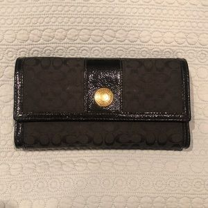 COACH WALLET with check sleeve